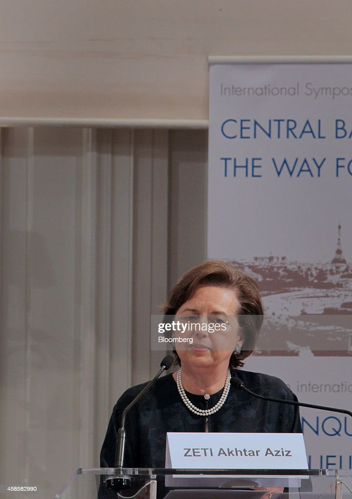 Zeti Akhtar Aziz governor of the Bank Negara Malaysia listens during the International Symposium of the Bank of France policy conference in Paris...