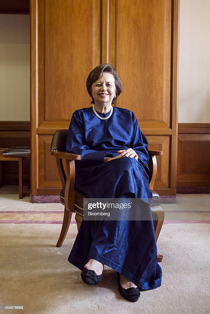 Zeti Akhtar Aziz governor of the Bank Negara Malaysia sits for a photograph after an interview at the central bank headquarters in Kuala Lumpur...