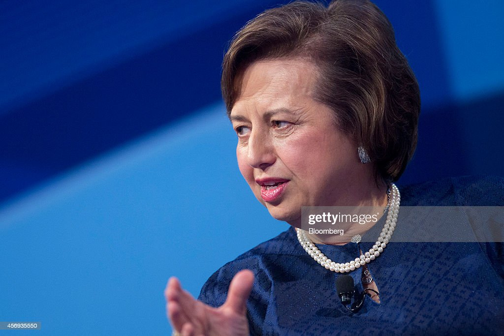 Zeti Akhtar Aziz governor of the Bank Negara Malaysia speaks at a panel discussion during the International Monetary Fund and World Bank Group Annual...