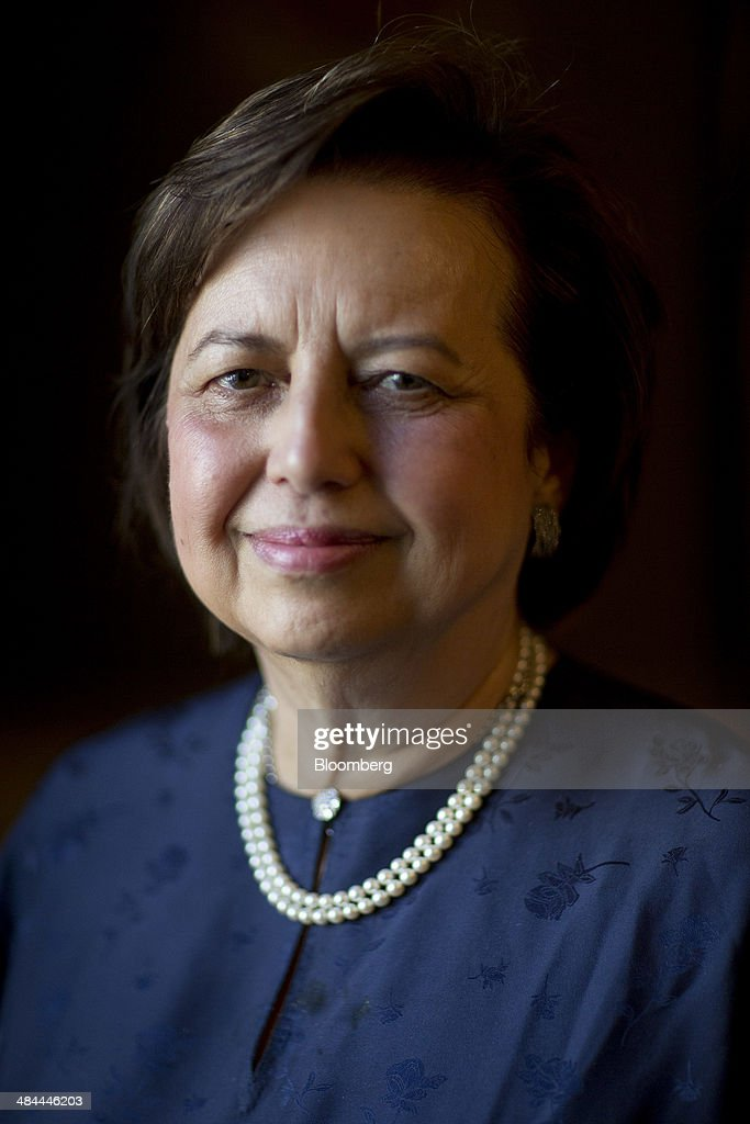 Zeti Akhtar Aziz governor of the Bank Negara Malaysia stands for a photograph following an interview on the sidelines of the International Monetary...