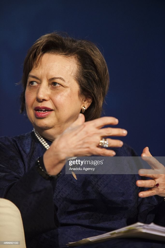 Zeti Aziz Governor of the Central Bank of Malaysia participates in a panel debate on Islamic Finance during the International Monetary Fund Spring...