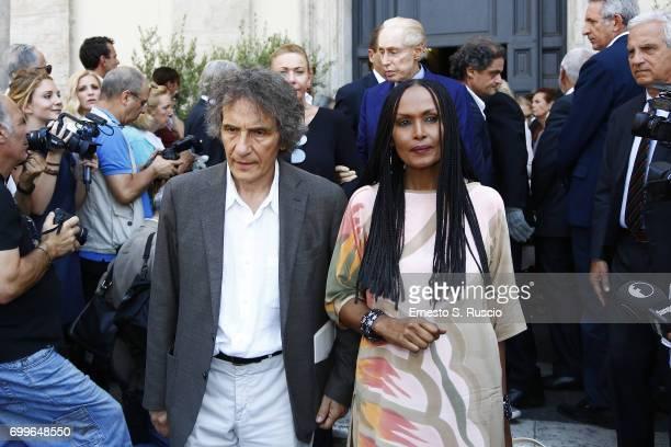 Zeudi Araya attends during the Carla Fendi Funeral at Chiesa degli Artisti on June 22 2017 in Rome Italy