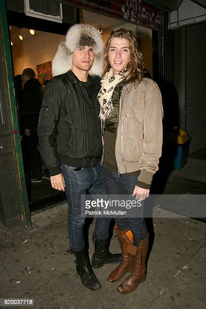 Zev Eisenberg and Gary Franklin attend PAPERCUT Inaugural Exhibition to Celebrate the Print Making Process at Heist Gallery on December 13 2008 in...