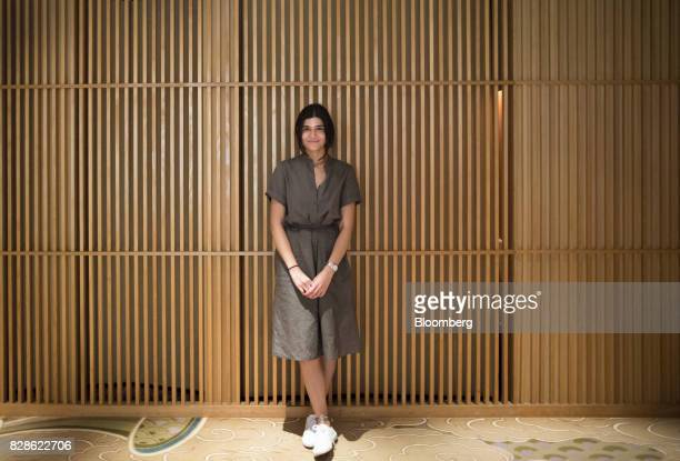 Zeynep Arican poses for a photograph during a cultural experience program part of Mitsubishi UFJ Financial Group Inc's Global Analyst Program for...