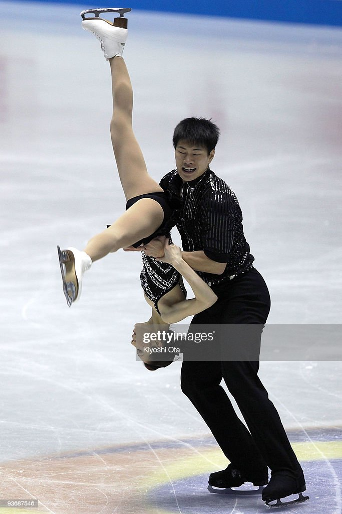<a gi-track='captionPersonalityLinkClicked' href=/galleries/search?phrase=Zhang+Dan&family=editorial&specificpeople=813902 ng-click='$event.stopPropagation()'>Zhang Dan</a> and <a gi-track='captionPersonalityLinkClicked' href=/galleries/search?phrase=Zhang+Hao&family=editorial&specificpeople=813903 ng-click='$event.stopPropagation()'>Zhang Hao</a> of China compete in the Pairs Short Program during the day one of the ISU Grand Prix of Figure Skating Final at Yoyogi National Gymnasium on December 3, 2009 in Tokyo, Japan.
