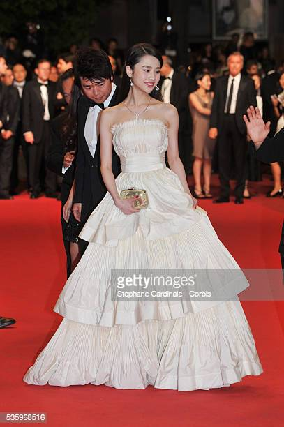 Zhang Huiwen at the 'Lost River' premiere during the 67th Annual Cannes Film Festival