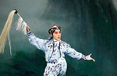 Zhang Huogian of the Peking Opera performs during 'Legend Of The White Snake' and 'The Jewelry Purse' Preview at David H Koch Theater Lincoln Center...