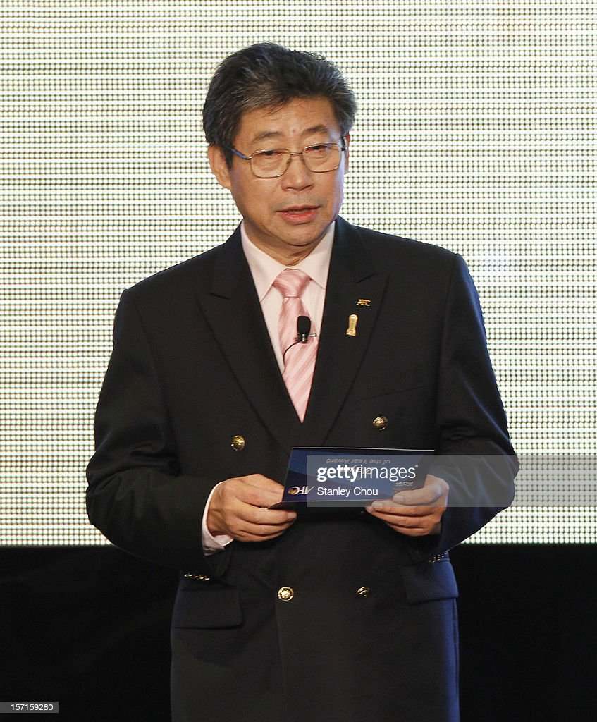 Zhang Jilong, AFC Acting President, speaks during The 2012 AFC Annual Awards at the Mandarin Oriental Hotel on November 29, 2012 in Kuala Lumpur, Malaysia.
