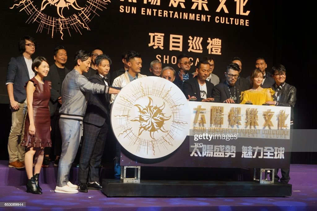 Zhang Jin, Shawn Yue, Janice Man, and Ka Tung Lam attend sun entertainment culture showcase to promote their new movie The Brink on 13th March, 2017 in Hongkong, China.