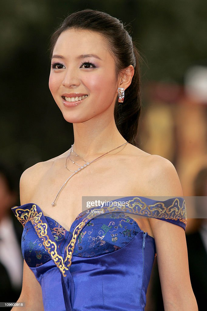 <a gi-track='captionPersonalityLinkClicked' href=/galleries/search?phrase=Zhang+Jingchu&family=editorial&specificpeople=242993 ng-click='$event.stopPropagation()'>Zhang Jingchu</a> during 2005 Venice Film Festival - Opening Night Ceremony and 'Seven Swords' Premiere at Sala Grande in Venice Lido, Italy.