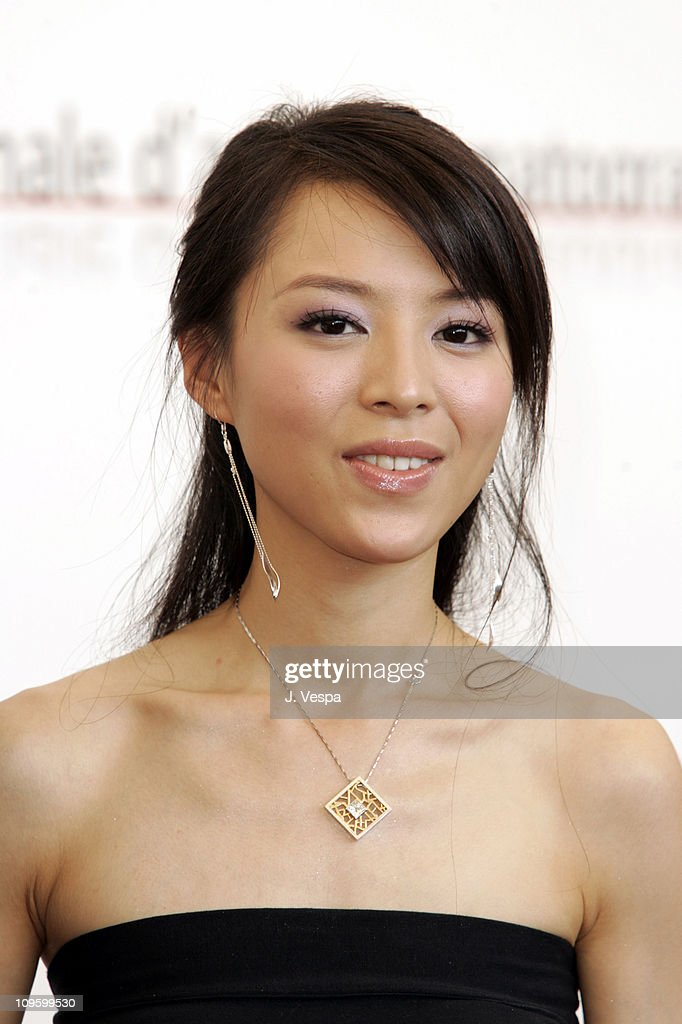 <a gi-track='captionPersonalityLinkClicked' href=/galleries/search?phrase=Zhang+Jingchu&family=editorial&specificpeople=242993 ng-click='$event.stopPropagation()'>Zhang Jingchu</a> during 2005 Venice Film Festival - 'Seven Swords' Photocall at Casino Palace in Venice Lido, Italy.
