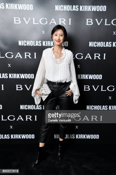 Zhang Li attends a party celebrating 'Serpenti Forever' By Nicholas Kirkwood for Bvlgari on September 20 2017 in Milan Italy