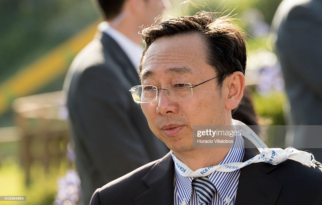 Zhang Tao, deputy governor of the People's Bank of China, arrives to participate in the ECB Forum on Central Banking on June 28, 2016 in Sintra, Portugal. The third annual European Central Bank Forum on Central Banking focuses on 'The future of the international monetary and financial architecture', a key topic of debate among economists and policymakers. Some 150 central bank governors, academics, financial journalists and high-level financial market representatives will discuss current policy issues and the chosen topic from a longer-term perspective.