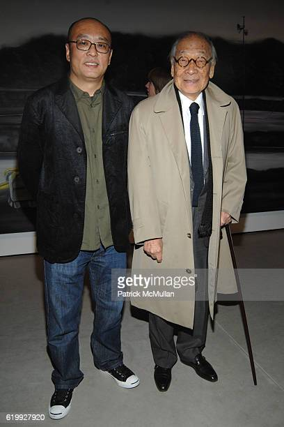Zhang Xiaogang and Ieoh Ming Pei attend PaceWildenstein Opening of 'Revision' by ZHANG XIAOGANG at PaceWildenstein on October 30 2008 in New York City