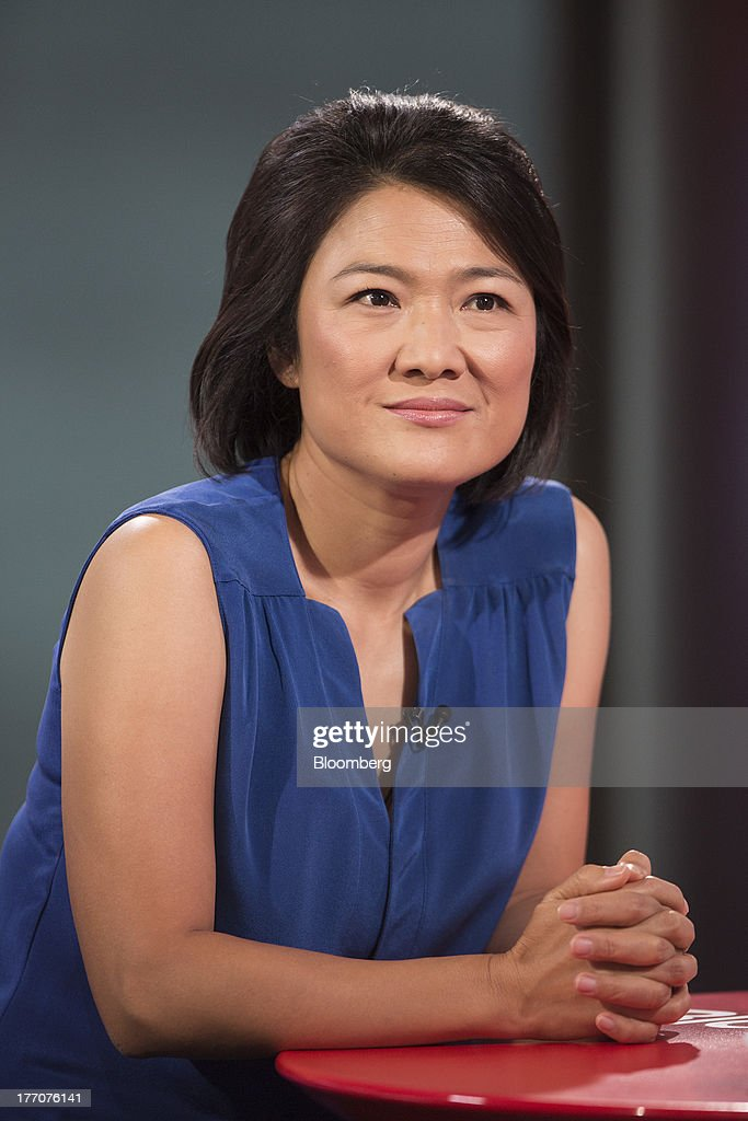 Zhang Xin, chief executive officer of Soho China Ltd., pauses during a Bloomberg Television interview in Hong Kong, China, on Wednesday, Aug. 21, 2013. Soho China said yesterday underlying profit in the first half more than doubled with increased earnings from property sales. Photographer: Jerome Favre/Bloomberg via Getty Images