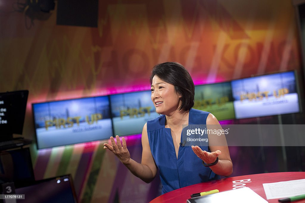 Zhang Xin, chief executive officer of Soho China Ltd., speaks before a Bloomberg Television interview in Hong Kong, China, on Wednesday, Aug. 21, 2013. Soho China said yesterday underlying profit in the first half more than doubled with increased earnings from property sales. Photographer: Jerome Favre/Bloomberg via Getty Images