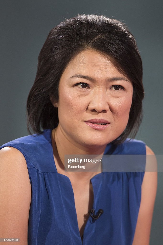 Zhang Xin, chief executive officer of Soho China Ltd., speaks during a Bloomberg Television interview in Hong Kong, China, on Wednesday, Aug. 21, 2013. Soho China said yesterday underlying profit in the first half more than doubled with increased earnings from property sales. Photographer: Jerome Favre/Bloomberg via Getty Images