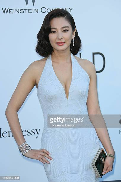 Zhang Yuqi arrives at amfAR's 20th Annual Cinema Against AIDS at Hotel du CapEdenRoc on May 23 2013 in Cap d'Antibes France