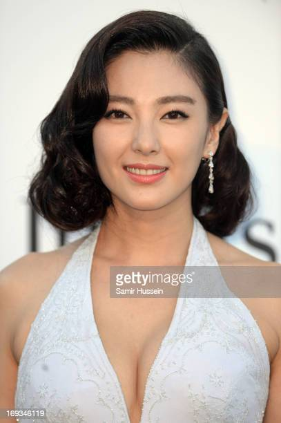 Zhang Yuqi attends amfAR's 20th Annual Cinema Against AIDS during The 66th Annual Cannes Film Festival at Hotel du CapEdenRoc on May 23 2013 in Cap...