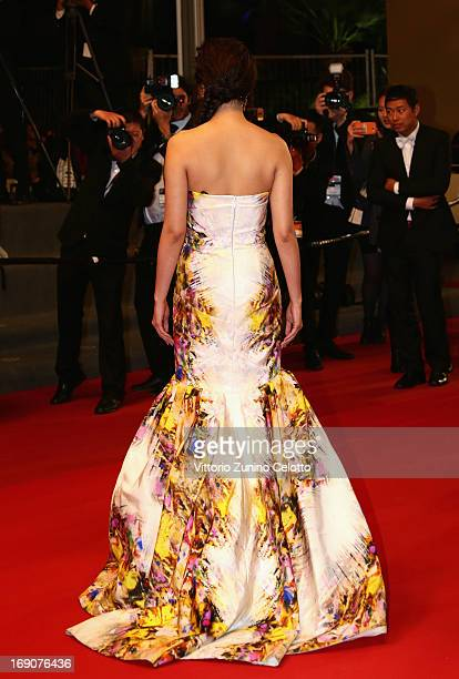 Zhang Yuqi attends the 'Blind Detective' Premiere during the 66th Annual Cannes Film Festival at the Palais des Festivals on May 19 2013 in Cannes...