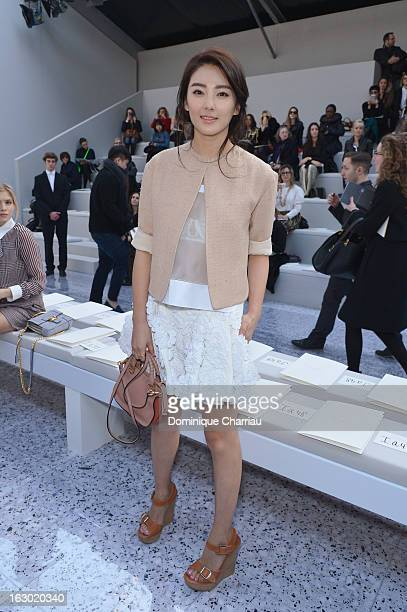 Zhang Yuqi attends the Chloe Fall/Winter 2013 ReadytoWear show as part of Paris Fashion Week on March 3 2013 in Paris France