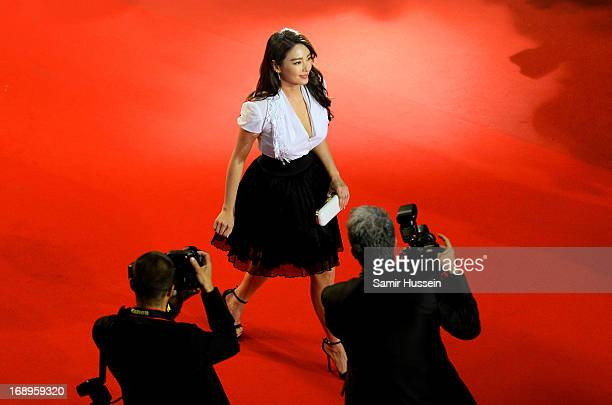 Zhang Yuqi attends the Premiere of 'Tian Zhu Ding' during The 66th Annual Cannes Film Festival at Palais des Festivals on May 17 2013 in Cannes France