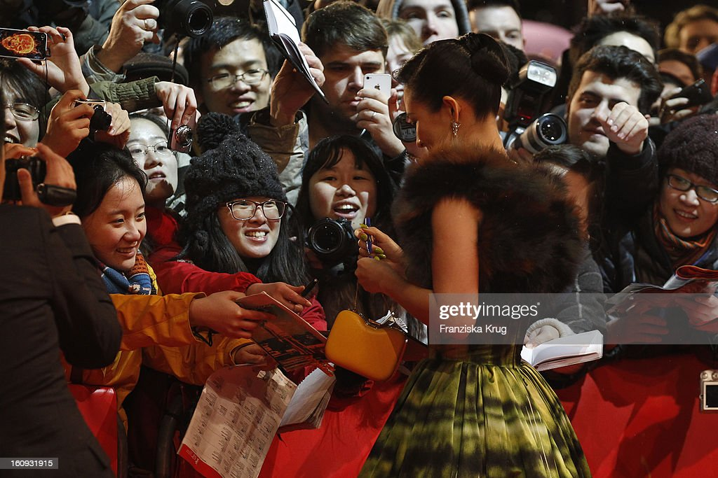 Zhang Ziyi arrives at the 'The Grandmaster' Premiere - BMW at the 63rd Berlinale International Film Festival at the Berlinale Palast on February 7, 2013 in Berlin, Germany.