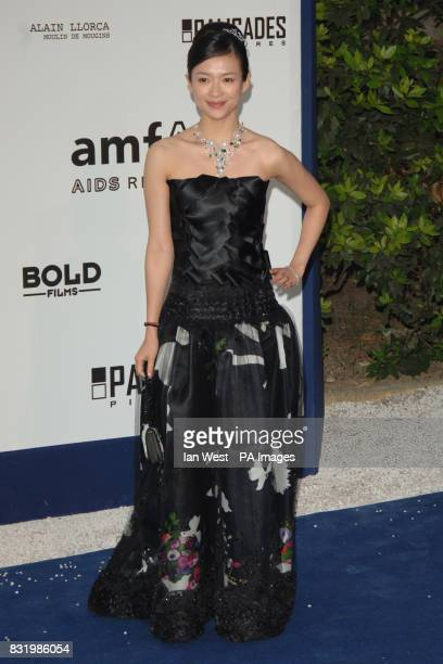 Zhang Ziyi arrives at the traditional charity gala during the Cannes Film Festival in Mougins France The gala benefits the amfAR Aids foundation