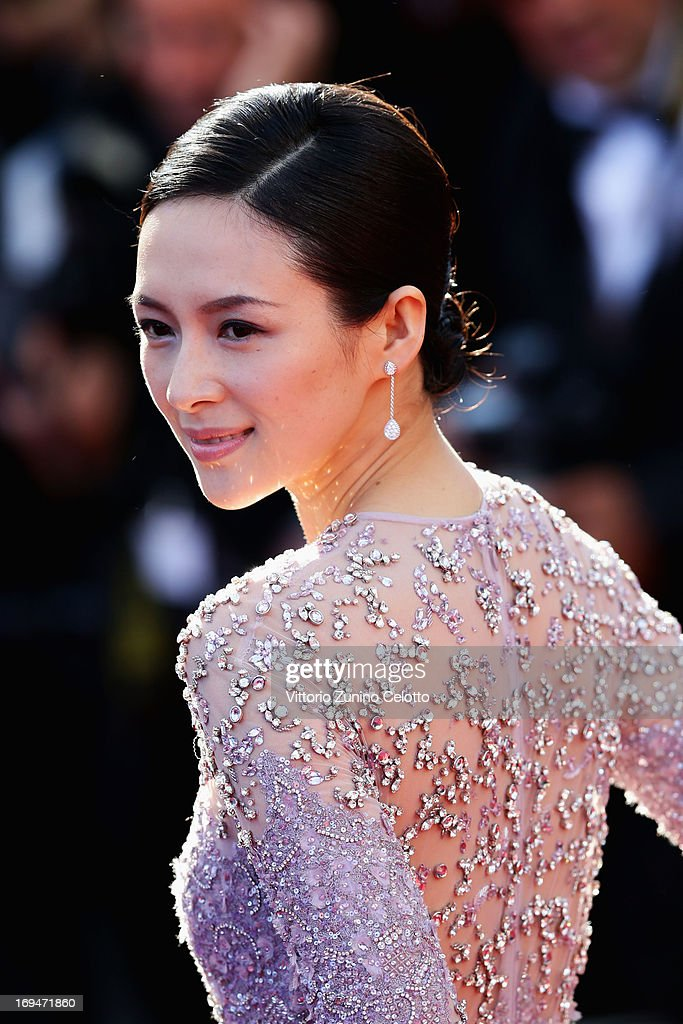 Zhang Ziyi arrives at 'Venus In Fur' Premiere during the 66th Annual Cannes Film Festival at Grand Theatre Lumiere on May 25, 2013 in Cannes, France.