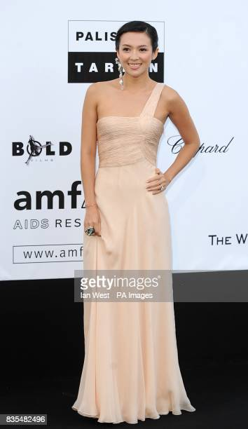 Zhang Ziyi arriving for the AmfAR 'Cinema Against AIDS' dinner and auction at the Hotel Du Cap Eden Roc Cap d'Antibes Cannes France
