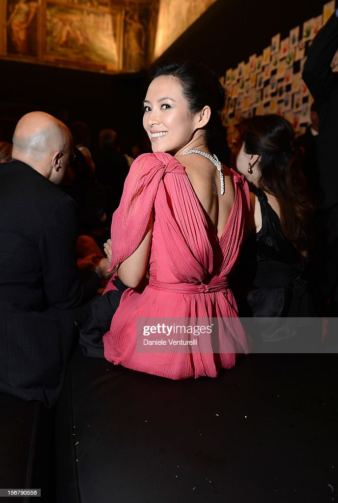 Zhang Ziyi attend the Bulgari 'Stop Think Give' exhibition preview and cocktail at Palazzo Pecci Blunt on November 15, 2012 in Rome, Italy.