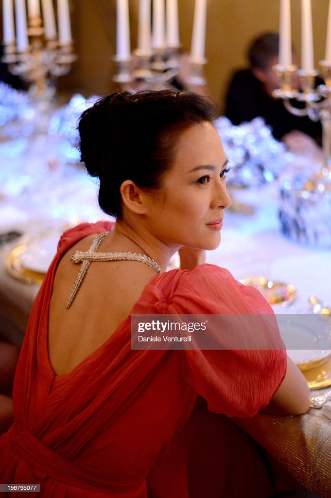 Zhang Ziyi attends Bulgari 'Stop Think Give' exhibition preview and cocktail at Palazzo Pecci Blunt on November 15, 2012 in Rome, Italy.