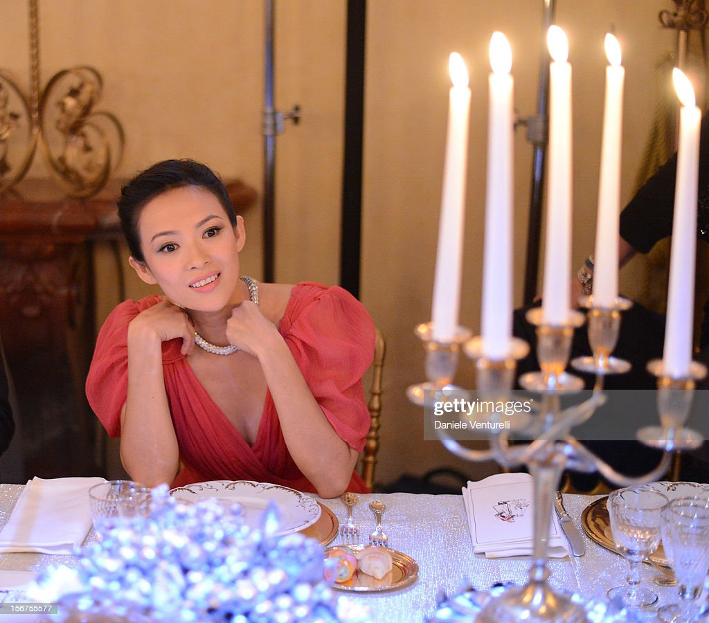 Zhang Ziyi attends the Bulgari 'Stop Think Give' exhibition preview and cocktail at Palazzo Pecci Blunt on November 15, 2012 in Rome, Italy.
