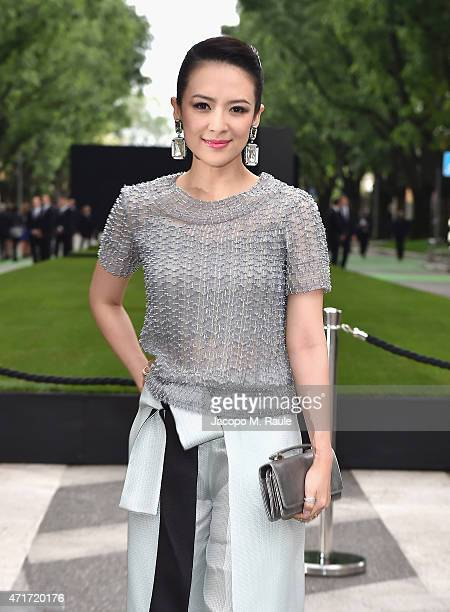 Zhang Ziyi attends the Giorgio Armani 40th Anniversary Silos Opening And Cocktail Reception on April 30 2015 in Milan Italy