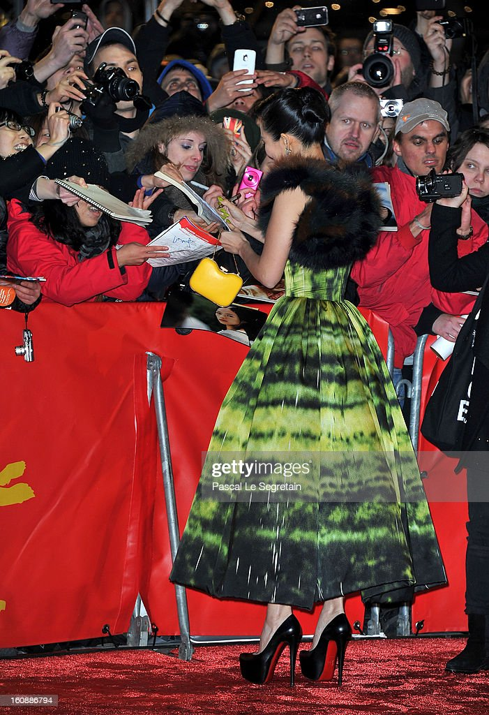 Zhang Ziyi attends 'The Grandmaster' Premiere during the 63rd Berlinale International Film Festival at Berlinale Palast on February 7, 2013 in Berlin, Germany.