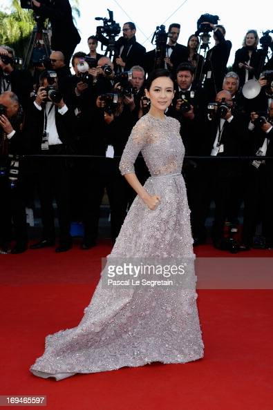 Zhang Ziyi attends the 'La Venus A La Fourrure' premiere during The 66th Annual Cannes Film Festival at Theatre Lumiere on May 25 2013 in Cannes...