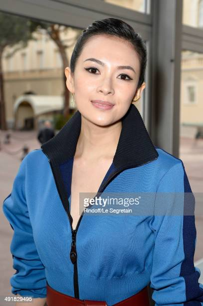 Zhang Ziyi attends the Louis Vuitton Cruise Line Show 2015 at Palais Princier on May 17 2014 in MonteCarlo Monaco