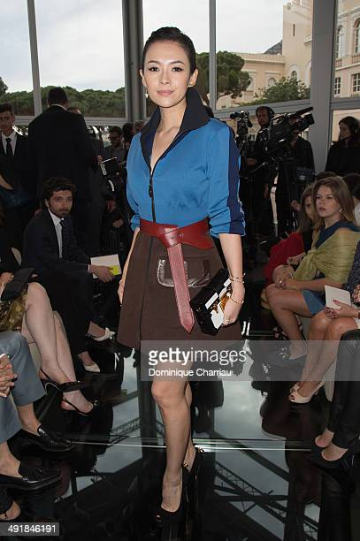 Zhang Ziyi attends the Louis Vuitton Cruise Line Show at place d'armes on May 17 2014 in MonteCarlo Monaco