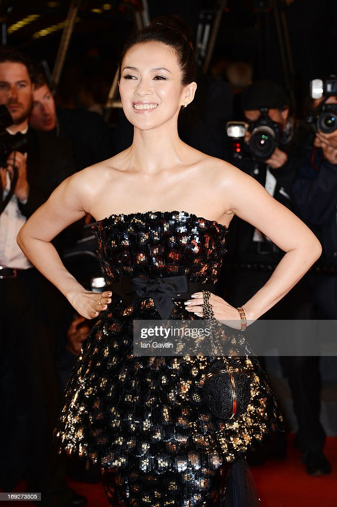 Zhang Ziyi attends the 'Only God Forgives' Premiere during the 66th Annual Cannes Film Festival at Palais des Festivals on May 22, 2013 in Cannes, France.