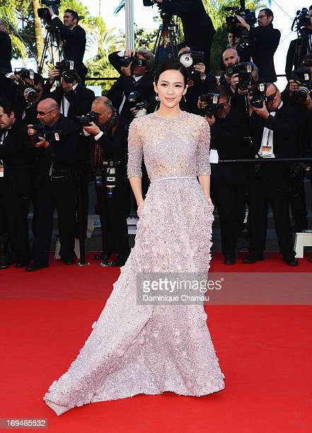 Zhang Ziyi attends the Premiere of 'La Venus A La Fourrure' during the 66th Annual Cannes Film Festival at the Palais des Festivals on May 25 2013 in...