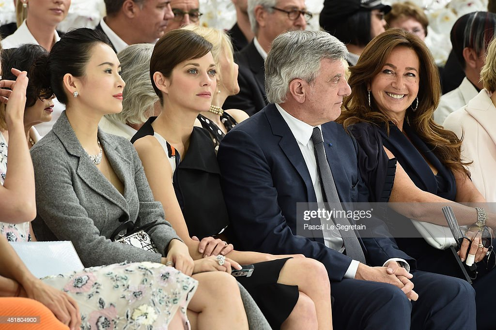 Zhang Ziyi, Marion Cotillard, Sidney Toledano and Katia Toledano attend the Christian Dior show as part of Paris Fashion Week - Haute Couture Fall/Winter 2014-2015 on July 7, 2014 in Paris, France.