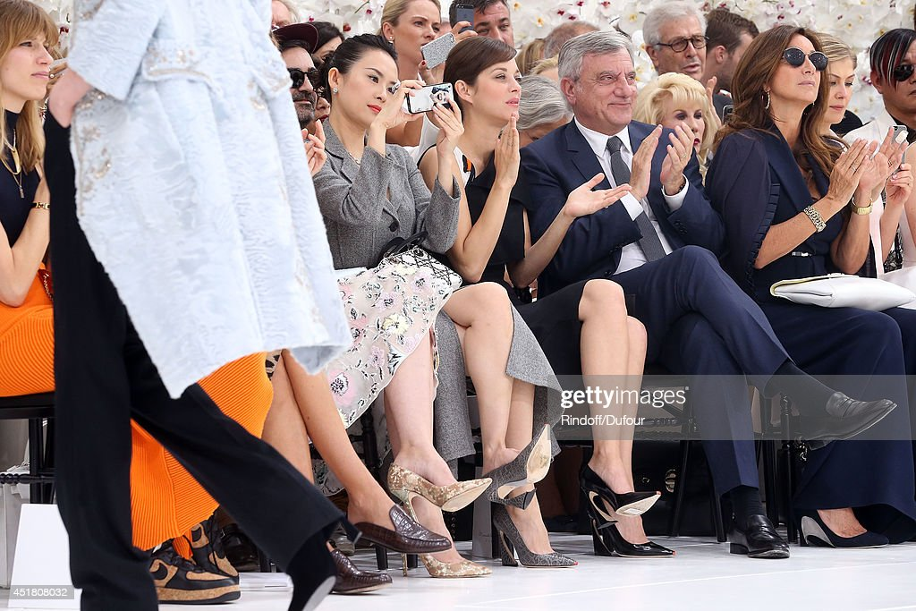 Zhang Ziyi, Marion Cotillard, Sidney Toledano and Katya Toledano attend the Christian Dior show as part of Paris Fashion Week - Haute Couture Fall/Winter 2014-2015 at Muse Rodin on July 7, 2014 in Paris, France.