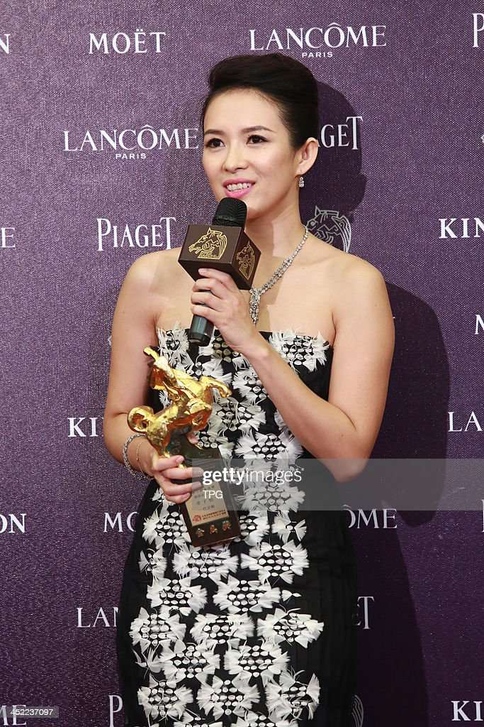 Zhang Ziyi wins Best Leading Actress at the 50th Golden Horse Awards on Saturday November 23,2013 in Taipei,China.