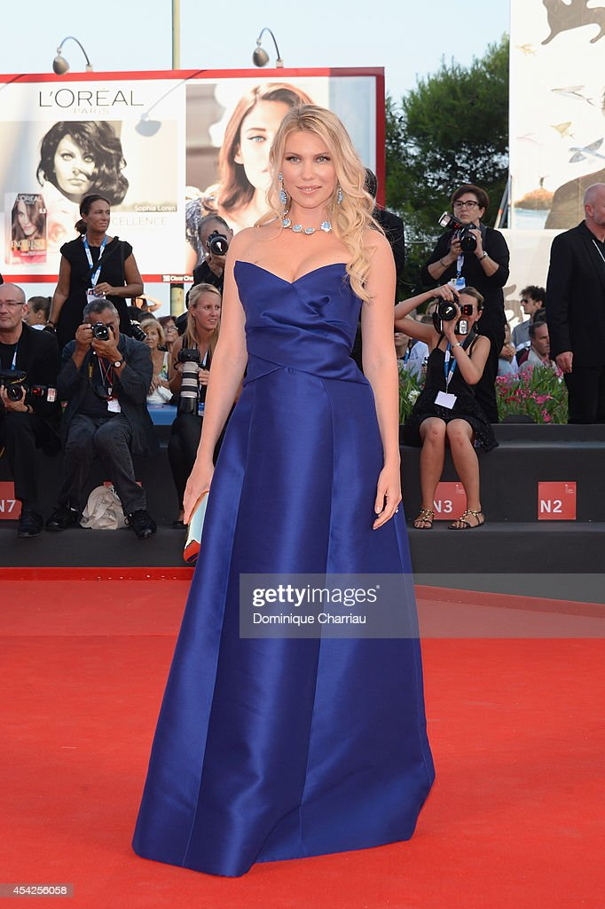 Zhanna Bianca attends the Opening Ceremony and 'Birdman' premiere during the 71st Venice Film Festival at Palazzo Del Cinema on August 27 2014 in...