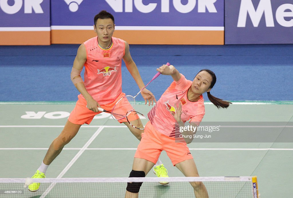 <a gi-track='captionPersonalityLinkClicked' href=/galleries/search?phrase=Zhao+Yunlei&family=editorial&specificpeople=5534160 ng-click='$event.stopPropagation()'>Zhao Yunlei</a> and <a gi-track='captionPersonalityLinkClicked' href=/galleries/search?phrase=Zhang+Nan+-+Badminton+Player&family=editorial&specificpeople=9612243 ng-click='$event.stopPropagation()'>Zhang Nan</a> of China compete against Tontowi Ahmad and Liliyana Natsir of Indonesia in the Mixed Double match during the 2015 Viktor Korea Badminton Open on September 20, 2015 in Seoul, South Korea.
