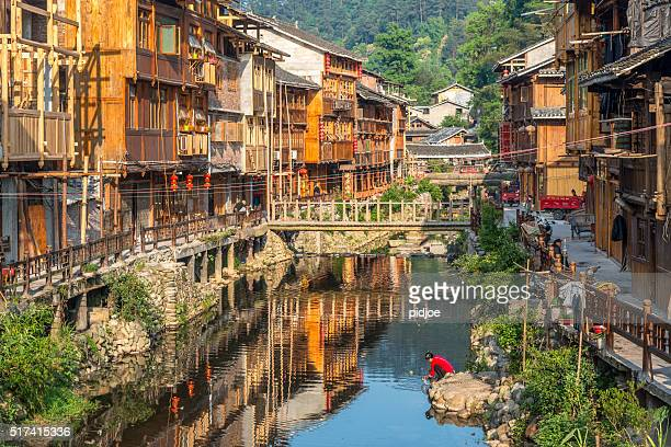 Zhaoxing Dong Village, urban scene Bridge China