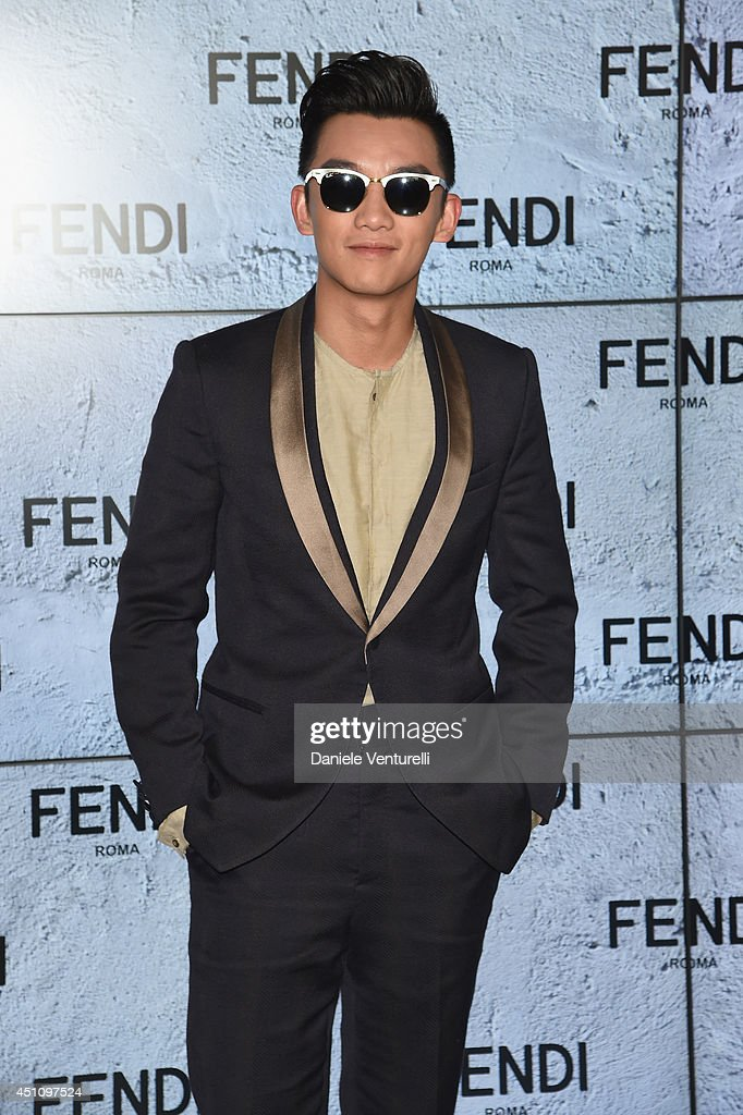 Zheng Kai attends the Fendi show during Milan Menswear Fashion Week Spring Summer 2015 on June 23, 2014 in Milan, Italy.