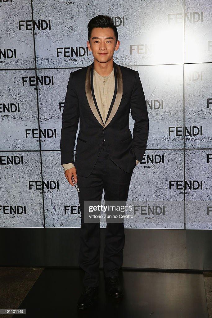 Zheng Kai attends the Fendi show during Milan Menswear Fashion Week Spring Summer 2015 on June 23, 2014 in Milan, Italy.