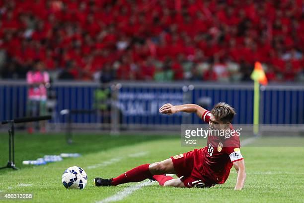 Zheng Zhi of China follows the ball during a group match between China and Hong Kong as a part of 2018 FIFA World Cup qualification at Shenzhen...