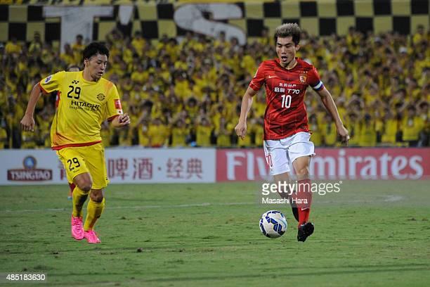 Zheng Zhi of Guangzhou Evergrande in action during the AFC Champions League quarter final match between Kashiwa Reysol and Guangzhou Evergrande at...